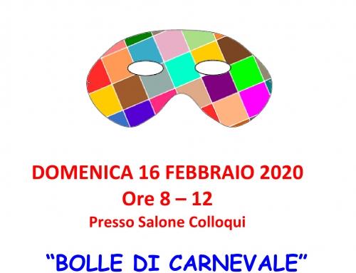 """BOLLE DI CARNEVALE"" 2020"