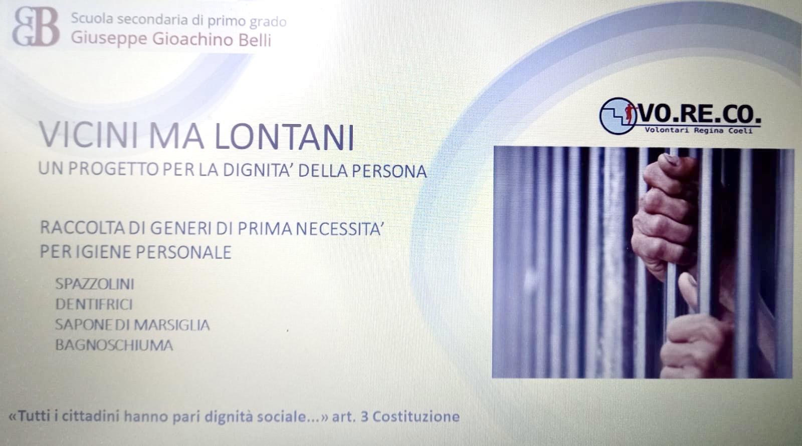 VICINI MA LONTANI – SCUOLA SECONDARIA DI PRIMO GRADO – GIUSEPPE GIOACHINO BELLI